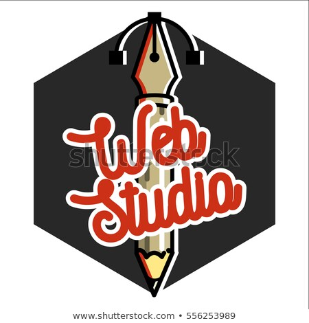 Clolor vintage web studio emblem Stok fotoğraf © netkov1