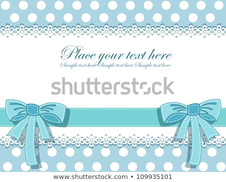 Baby Shower Greeting Card, Vector Infant in Diaper Stock photo © robuart