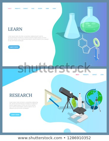 Learn Screen, Research Discovery Website Vector Foto stock © robuart