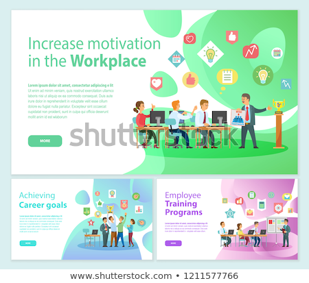 Career Goals and Training Programs, Workers Vector Foto stock © robuart
