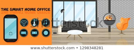 Smart Design interior Vector flat style. Utilities icons. Office Stock photo © frimufilms