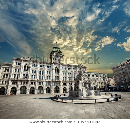Piazza Unita d Italia square in Trieste view stock photo © xbrchx