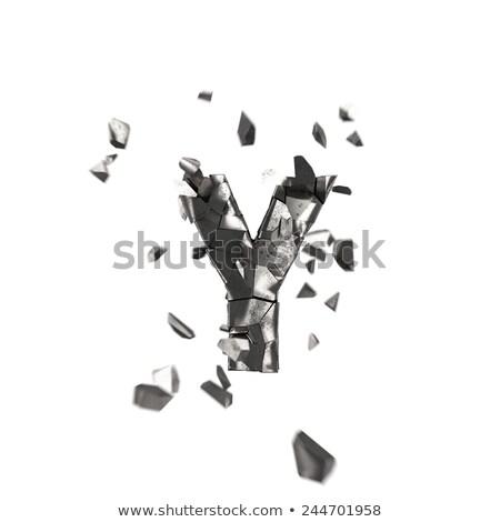 ржавые металл шрифт письме 3D 3d визуализации Сток-фото © djmilic