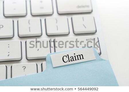 Zdjęcia stock: Folderze · biały · biurko · papieru · laptop
