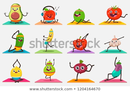 Set of cute cartoon character Stock photo © bluering