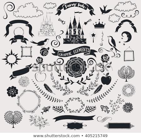 Photo stock: Magie · conte · de · fées · cadre · illustration · vin · design