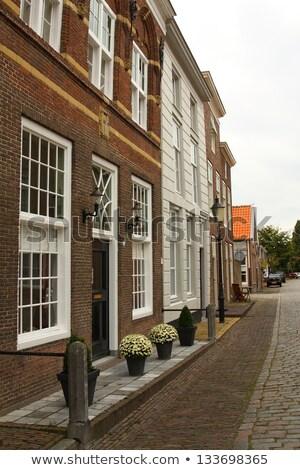 typisch · nederlands · huizen · water · zonnige · voorjaar - stockfoto © melnyk