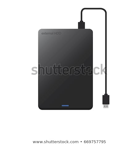 external hard drive concept vector illustration stock photo © rastudio