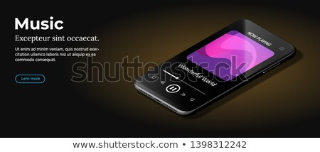 Modern Mobile Cell Phone With Audio Player Ui Ux And Gui Template Foto stock © Tashatuvango