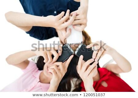 widoku · różnorodny · grupy · ludzi · odizolowany · biały - zdjęcia stock © andreypopov
