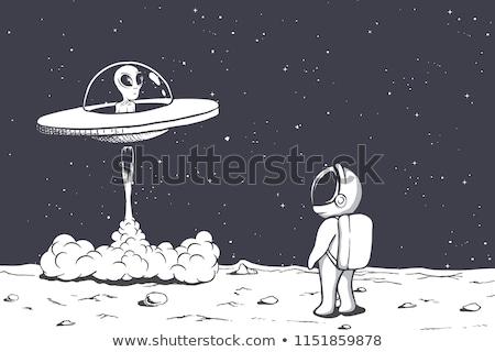 Uzay ufo iniş gezegen örnek doku Stok fotoğraf © colematt