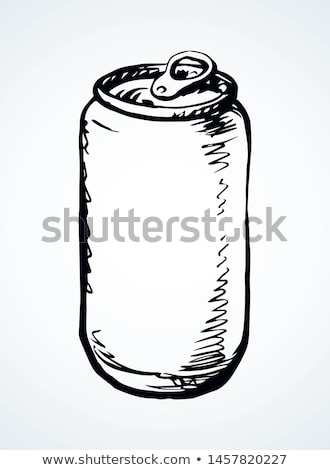 hand drawn blank closed bottle of beer vector stock photo © pikepicture