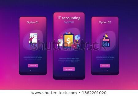 Przedsiębiorstwo rachunkowości app interfejs szablon Zdjęcia stock © RAStudio