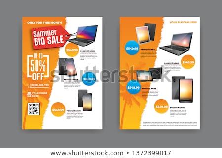 Yaz satış vektör afiş tanıtım broşür Stok fotoğraf © robuart