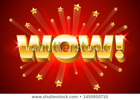 Ouro wow vermelho bandeira estrelas Foto stock © MarySan