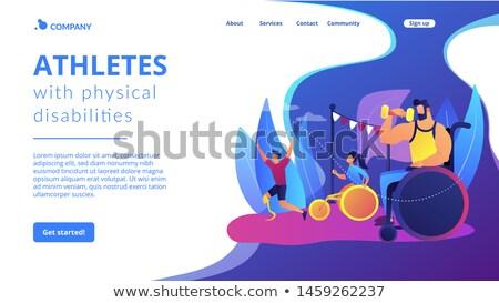 Landing pagina obstakels toegang mobiliteit problemen Stockfoto © RAStudio