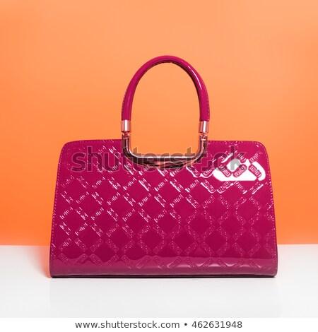 Moda beleza senhoras bolsa vermelho Foto stock © serdechny