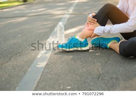 esportes · corrida · joelho · ferimento · mulher · dor - foto stock © andreypopov