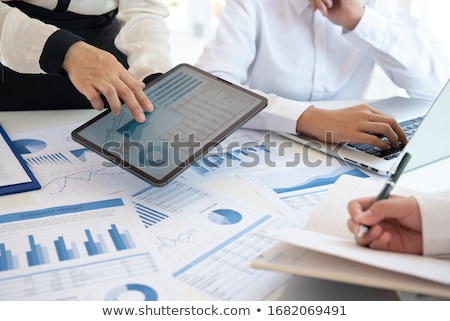 Statistical Data Analysis Meeting of Partners Stock photo © robuart