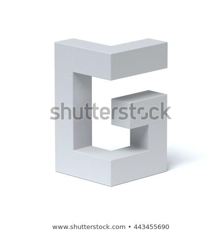 Kék betűtípus g betű 3D 3d render illusztráció Stock fotó © djmilic