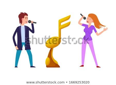 Música desafiar competição prêmio vetor ouro Foto stock © robuart