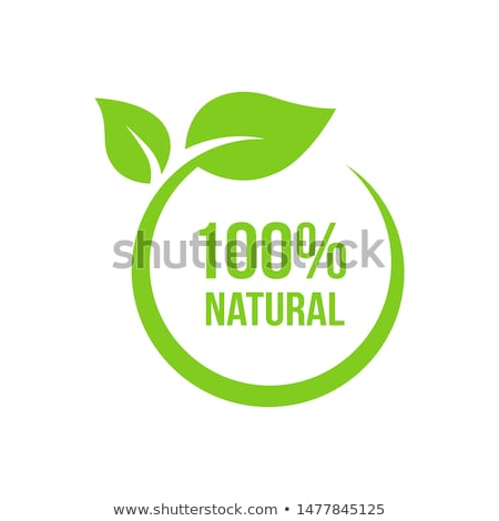 新鮮な 自然 100 自然食品 ラベル ステッカー ストックフォト © SArts