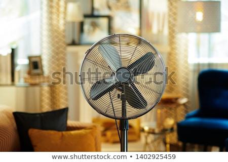 elektromos · ventillátor · illusztráció · fehér · otthon · fém - stock fotó © olegtoka