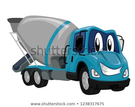Mascote cimento batedeira caminhão ilustração construção Foto stock © lenm