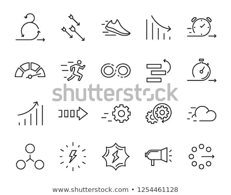 Doboz konténer nyíl agilis alkotóelem vektor Stock fotó © pikepicture