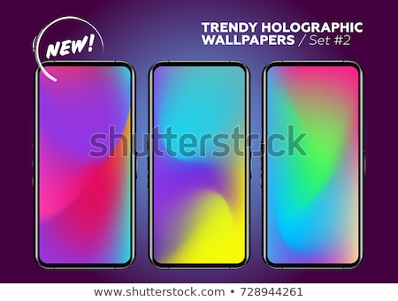 расплывчатый градиент красочный волны мобильных Сток-фото © SwillSkill