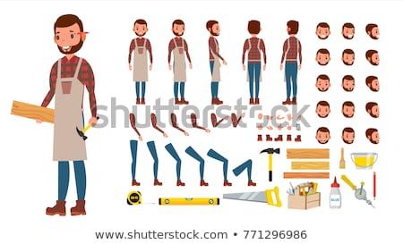 carpenter working at the circular cutter stock photo © kzenon