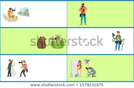 Fotós szolgáltatások internet promo bannerek szett Stock fotó © robuart