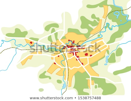 Map of The City. Geographical Location, Navigation Tourist Guide, Route Urban Chart. Stock photo © Glasaigh
