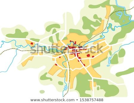 Harita şehir coğrafi konum navigasyon turist Stok fotoğraf © Glasaigh