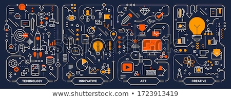 Brainstorming concept illustration template Stock photo © orson