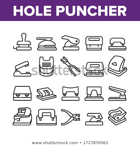 Puncher Stationery Equipment Monochrome Vector Stock photo © pikepicture