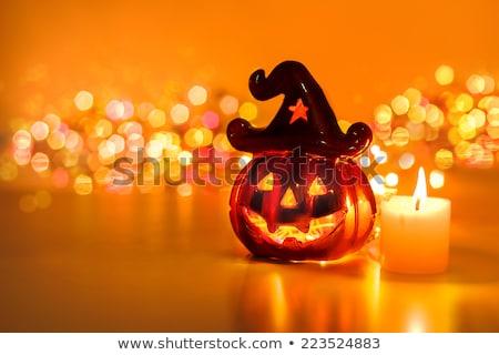Glücklich Halloween orange lachen Geist Gesicht Stock foto © SArts