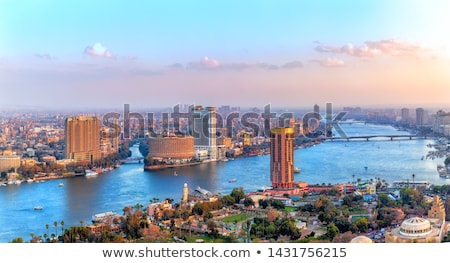Cityscape Caire ville panorama coucher du soleil célèbre Photo stock © Givaga