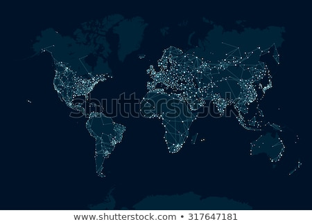 World map of earth planet lights at night  Stock photo © cienpies