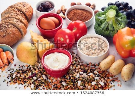 Stock fotó: Természetes · termékek · króm · étel · tyúk · tej