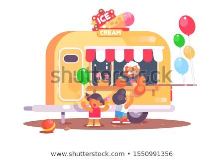 sorvete · caminhão · ilustração · produto · gráficos · negócio - foto stock © jossdiim