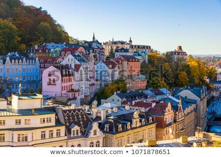 Ulicy Czechy miasta centrum podróży miejskich Zdjęcia stock © borisb17