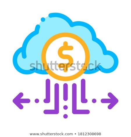Ceny Chmura przechowywania ikona wektora Zdjęcia stock © pikepicture