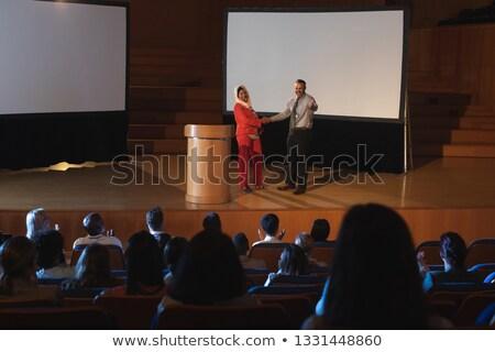 высокий · мнение · бизнеса · коллега · Постоянный - Сток-фото © wavebreak_media