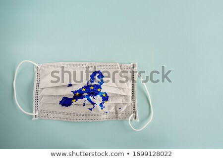 Flags of France and the European Union with copy space Stock photo © Zerbor