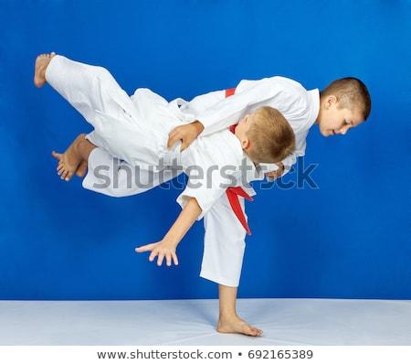 Jongens opleiding judo kinderen gezondheid veiligheid Stockfoto © Andreyfire