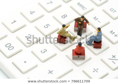 Miniature figurine of successful businessman Stock photo © nomadsoul1