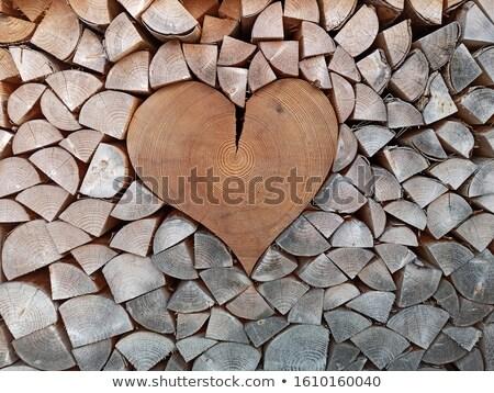 Сток-фото: сердце · знак · дрова · куча