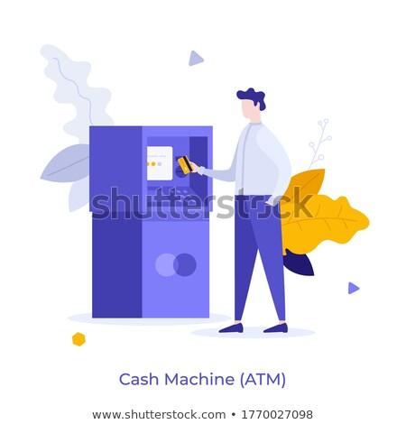 Dépôt vecteur métaphore banque client Photo stock © RAStudio