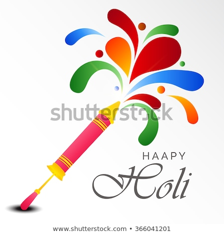 happy holi pichkari with colors background design Stock photo © SArts